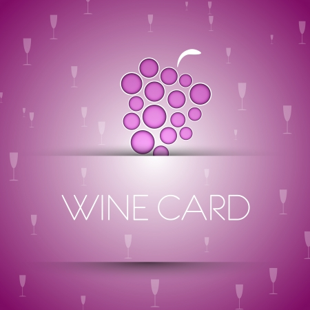 wine template. wine card concept. Vector