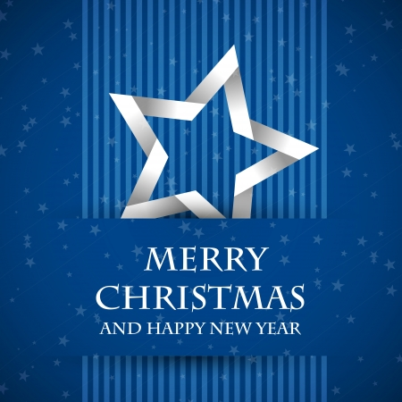 blue banned christmas card with star