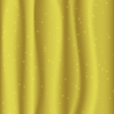 satiny: golden fabric with stars. curtain concept.