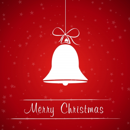 red christmas bell frame. christmas card.  Vector