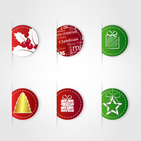 white red merry christmas template Vector