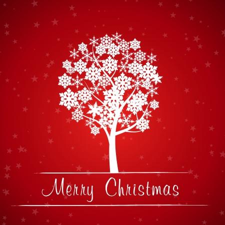 red christmas tree frame. christmas concept.  Vector
