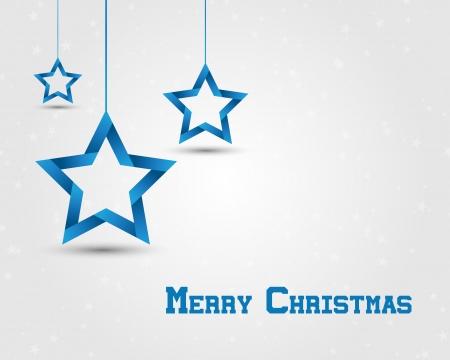 estrellas de navidad: estrellas azules de la Navidad. tarjeta de Navidad.