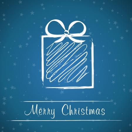 dark blue christmas gift. christmas card.  向量圖像