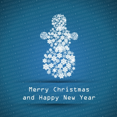 dark blue merry christmas typographic text. christmas card.  Vector