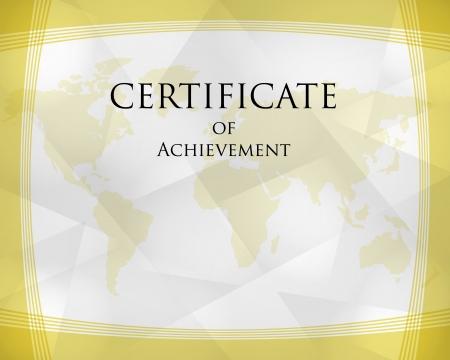 golden crystalline certificate, certificate concept Illustration