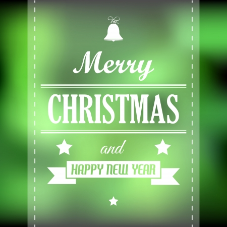 hollidays: green abstract christmas card with ribbon. christmas concept