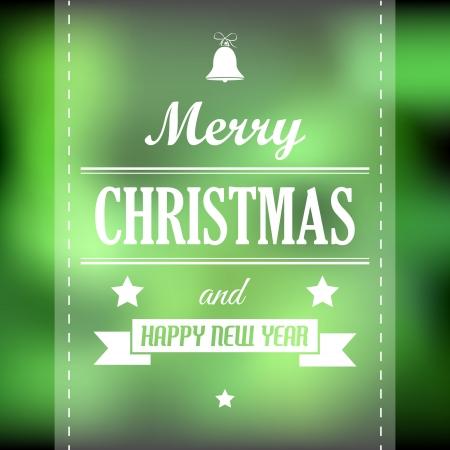 hollidays: green abstract christmas card with ribbon. christmas concept
