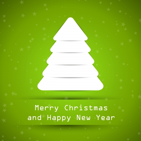 hollidays: green snowy christmas tree. christmas concept