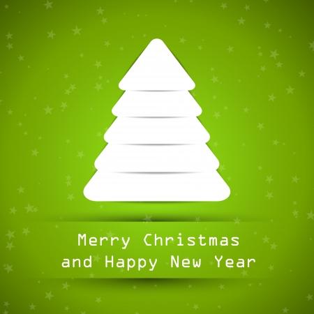 hollidays: green snowy christmas tree. christmas concept