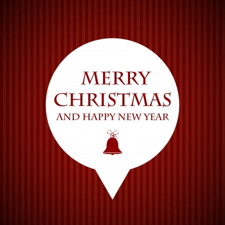 hollidays: red christmas bubble with bell. christmas concept