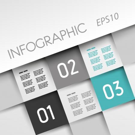 turguoise infographic plein met drie opties. infographic concept.