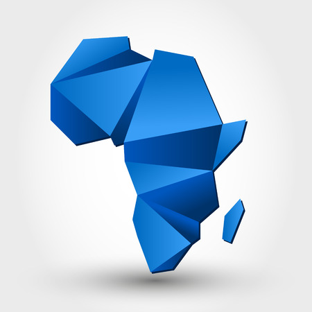 map of africa. map concept Vector