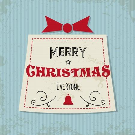 hollidays: blue retro christmas card. christmas concept