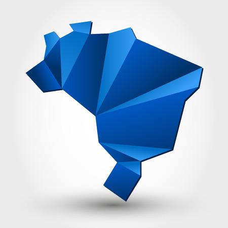 kaart van brazilië. kaart-concept Stock Illustratie