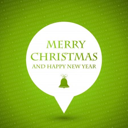 green merry christmas speech bubble. christmas concept Vector