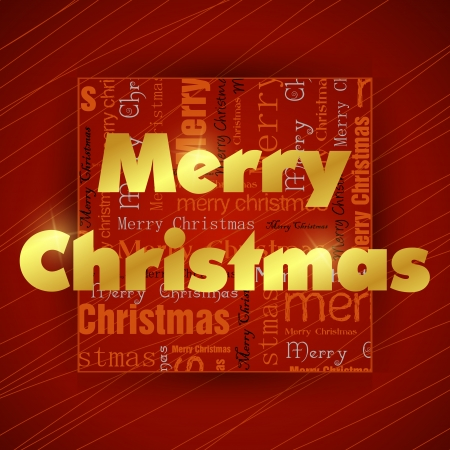 red and golden typographic christmas card. christmas concept Vector