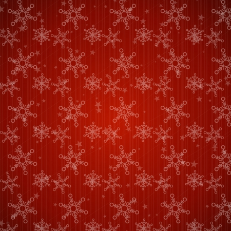 red christmas background with stars and snowflakes. christmas concept Vector
