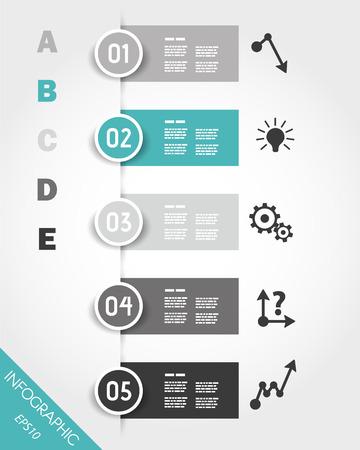 turquoise infographic stickers met knoppen en pictogrammen. infographic concept. Stock Illustratie