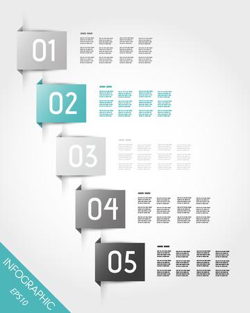 turquesa adesivos com retângulo. conceito infográfico.