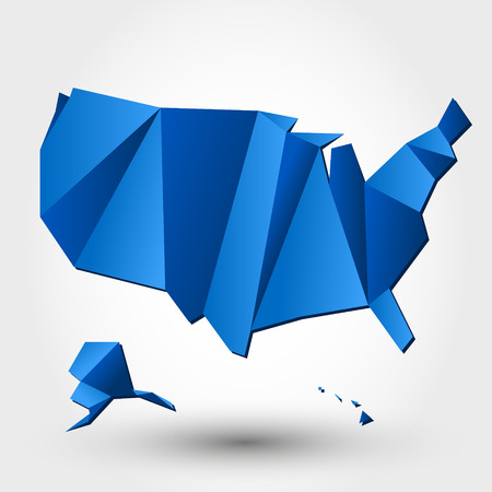 united states map: map of usa. map concept Illustration