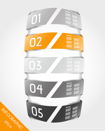 orange infographic unit. infographic concept.