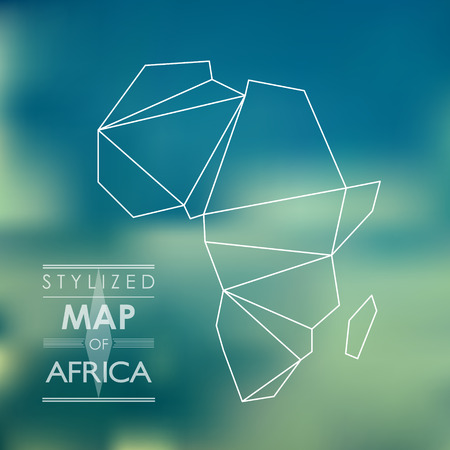 Carte de l'Afrique Banque d'images - 25953544