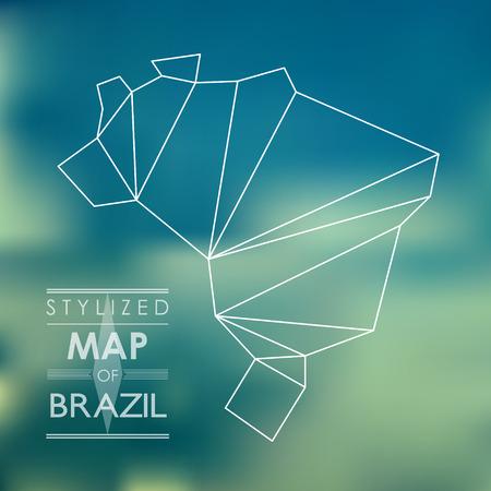 brazil symbol: map of brazil. map concept