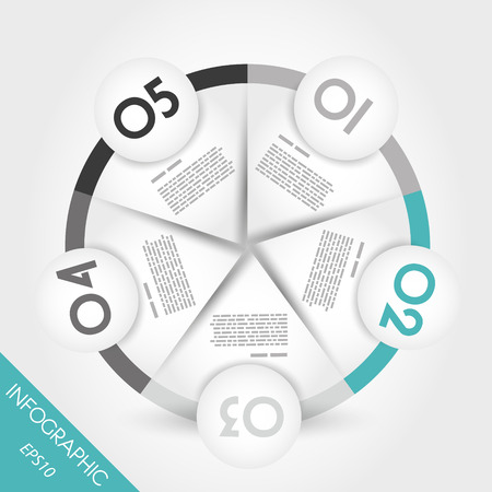 nameplate: turquoise infographic ring with border. infographic concept. Illustration