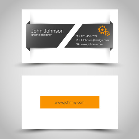 bussines card with slit sticker. office concept