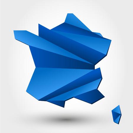 kaart van Frankrijk. kaart-concept
