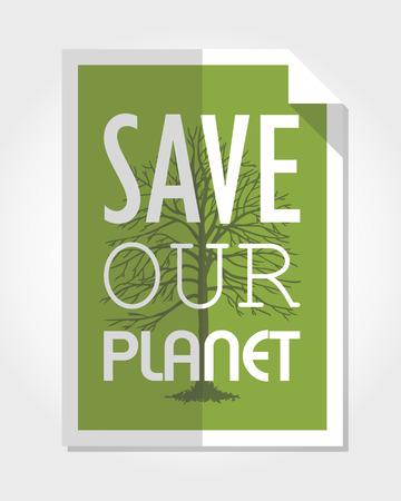 modern eco poster, poster concept Vector