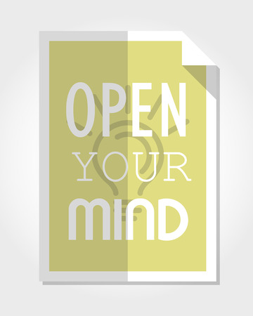 open type font: modern motivational poster, poster concept
