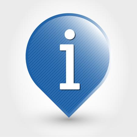 blue information icon. icon concept Stock Vector - 28269486