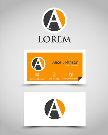 modern business card A. corporate concept Vector