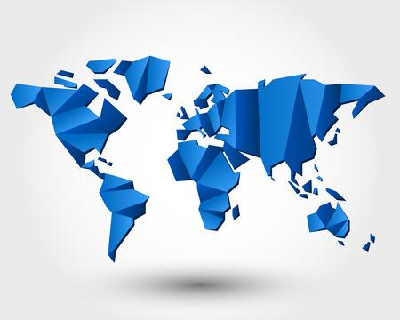 mapa del mundo. mapa del mundo concepto. Vectores