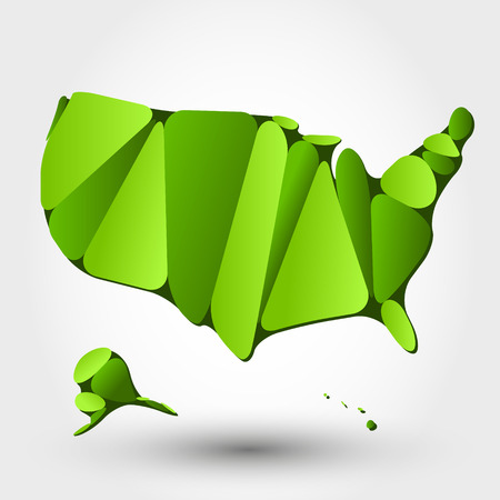 grass land: eco map of USA. eco map concept Illustration