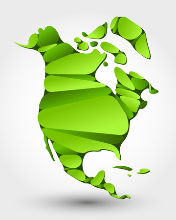 food state: eco map of North America. eco map concept