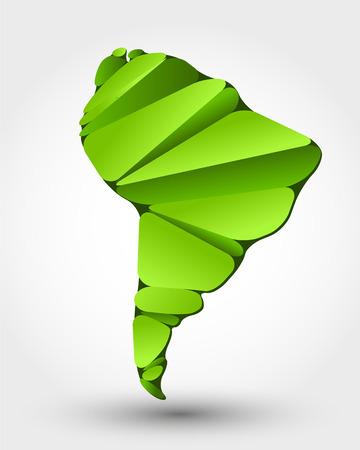 éco carte de l'Amérique du Sud. carte éco conception
