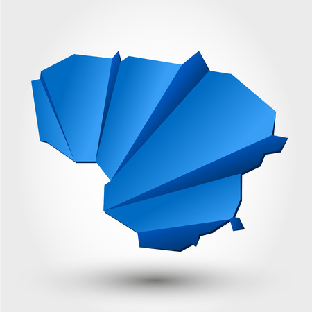 lithuanian: map of lithuania. origami map concept