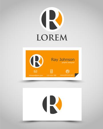cartão de visita moderno R. conceito corporativo