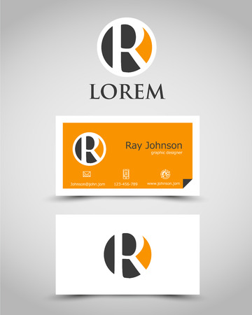 modern business card R. corporate concept