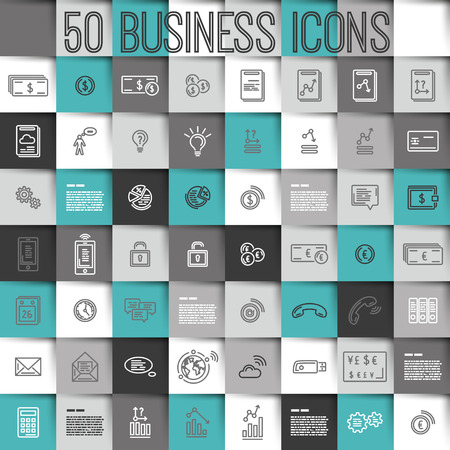 modern turquoise business icons, icon concept 版權商用圖片 - 28985672