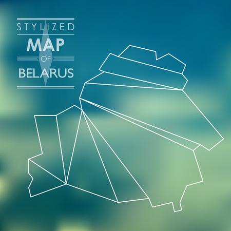 belarus: stylized map of Belarus. stylized map concept