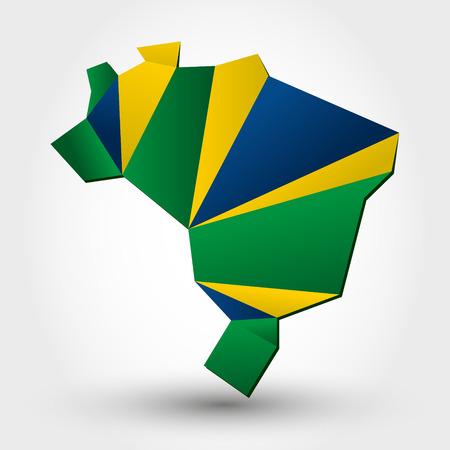 federative republic of brazil: color brazil. color map concept Illustration