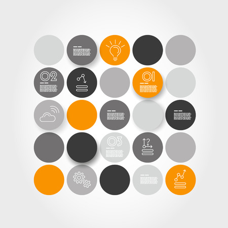 prospectus: orange infographic circle set. infographic concept.