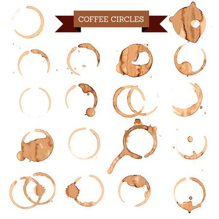 brown coffee circles, coffee concept