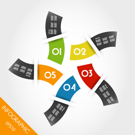 colorful infographic waves in ring. infographic concept. Vector