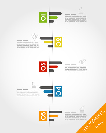 colorful timeline with triple arrows. infographic concept. Vector