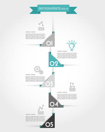 turquoise origami triangular timeline. infographic concept.